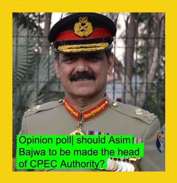 Opinion poll  should Asim Bajwa to be made the head of CPEC Authority?